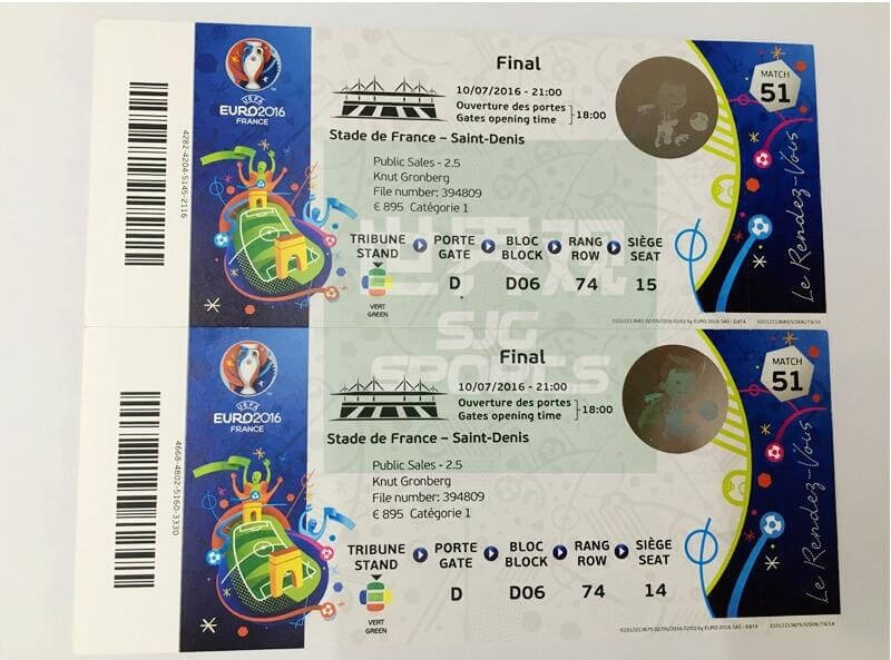 2016年法国欧洲杯门票